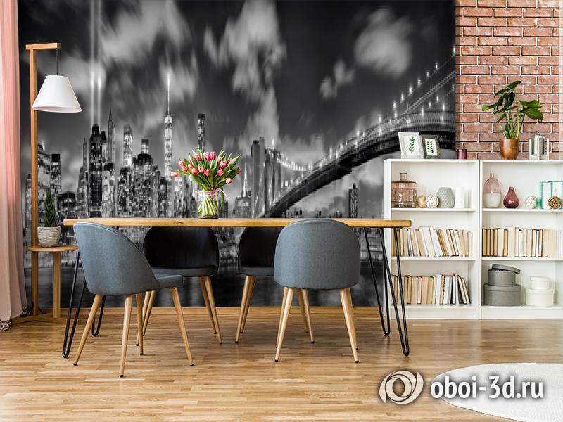 3D Фотообои  «Черно-белая инсталляция с небоскребами»  вид 9