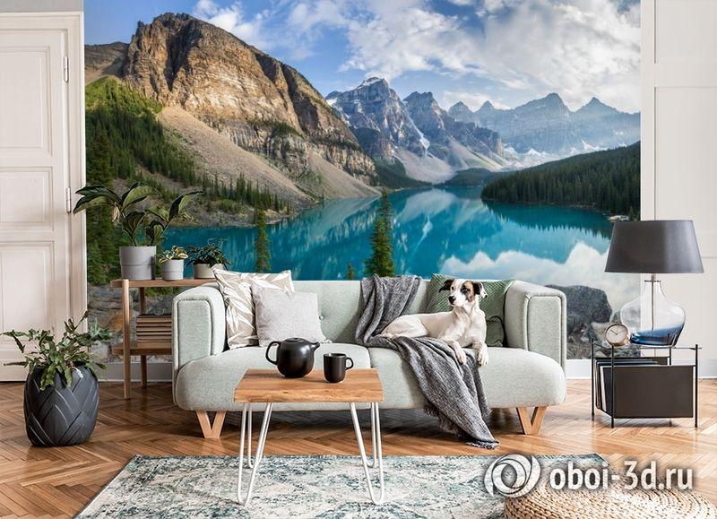 3D Фотообои  «Горное озеро в Альпах»  вид 7