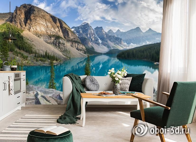 3D Фотообои  «Горное озеро в Альпах»  вид 6