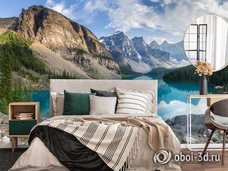 3D Фотообои  «Горное озеро в Альпах»  вид 4