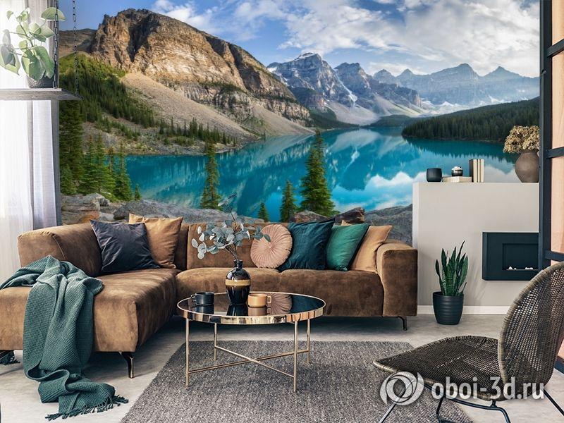 3D Фотообои  «Горное озеро в Альпах»  вид 3