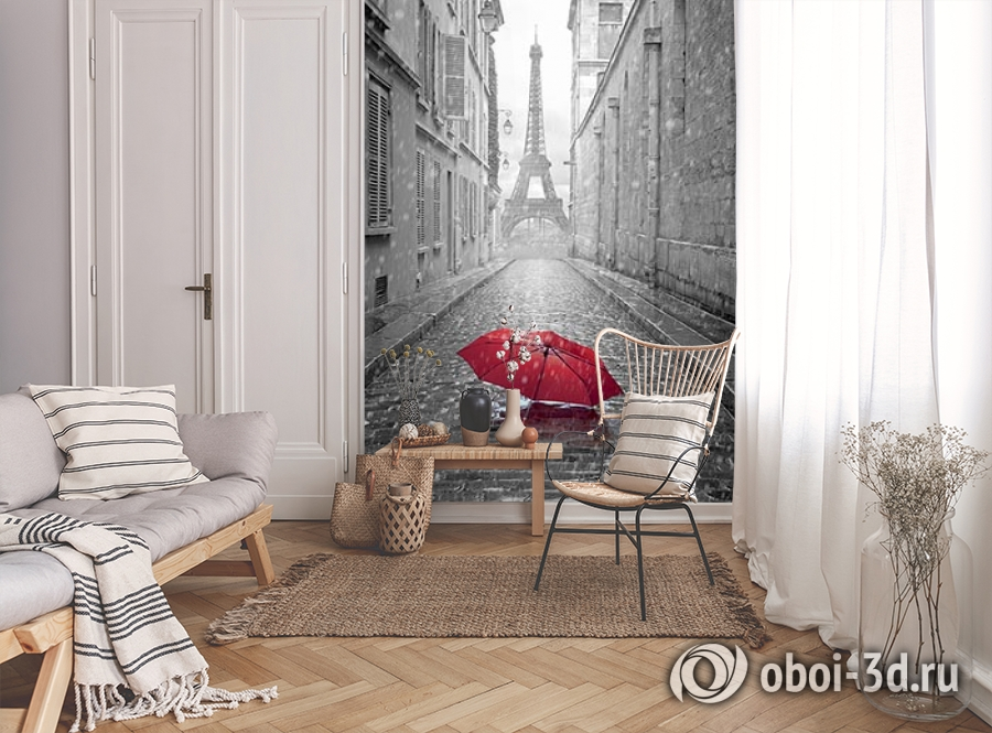 3D Фотообои «Дождь в Париже» вид 9