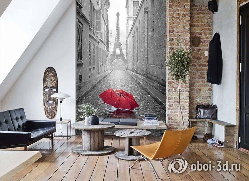 3D Фотообои «Дождь в Париже» вид 7