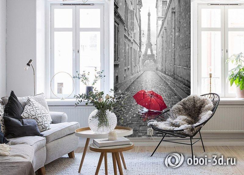 3D Фотообои «Дождь в Париже» вид 4