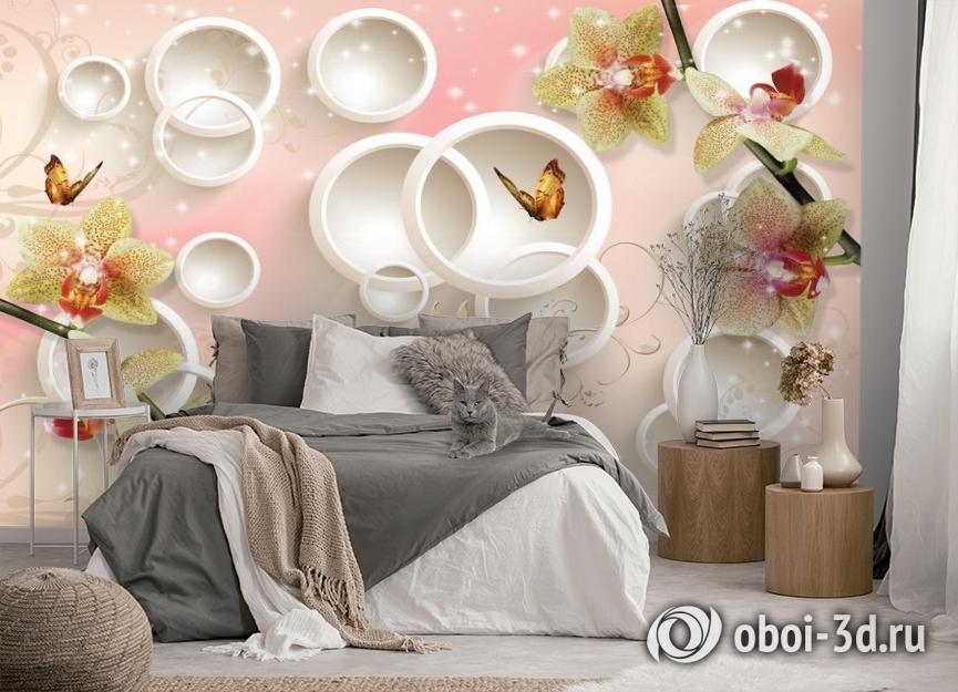 3D Фотообои  «Дикие орхидеи»  вид 5