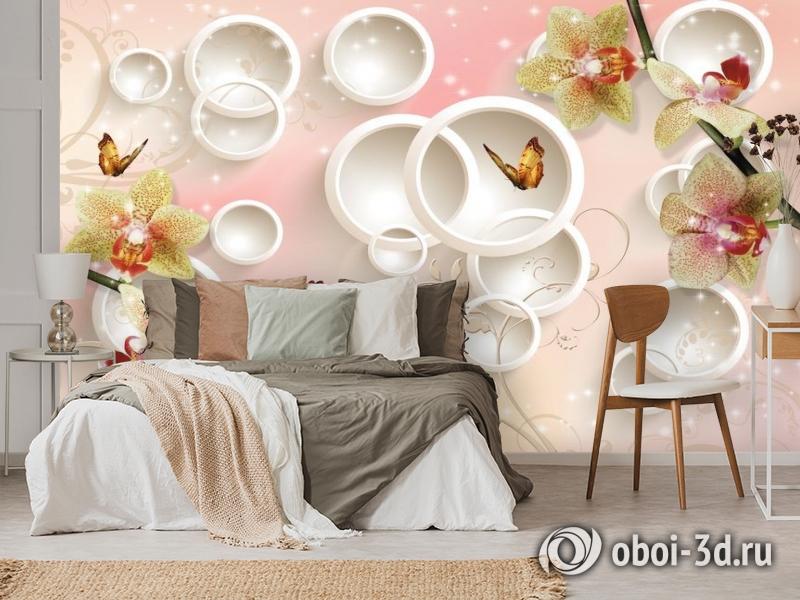 3D Фотообои  «Дикие орхидеи»  вид 3