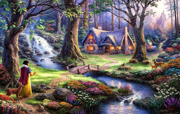 "3D Фотообои 3D Фотообои  ""Сказочный лес"""