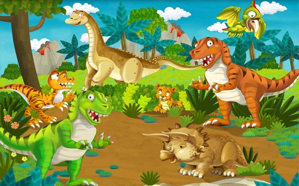 3D Фотообои 3D Фотообои «С динозаврами»