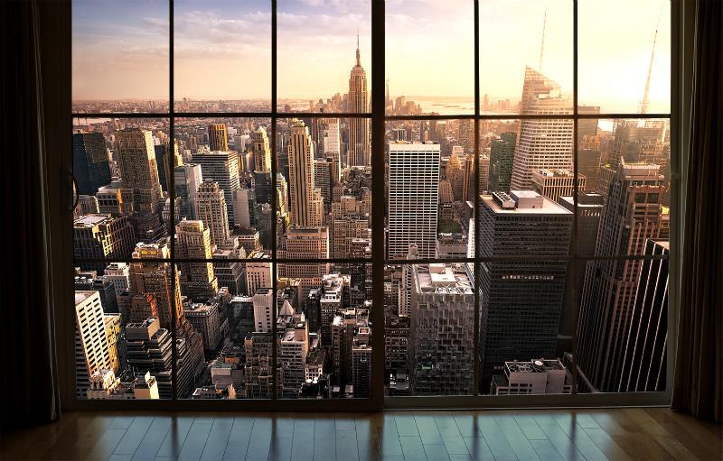 3D Фотообои 3D Фотообои «Мегаполис на закате»