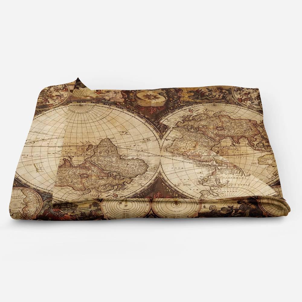 Плед велсофт «Карта мира» вид 5