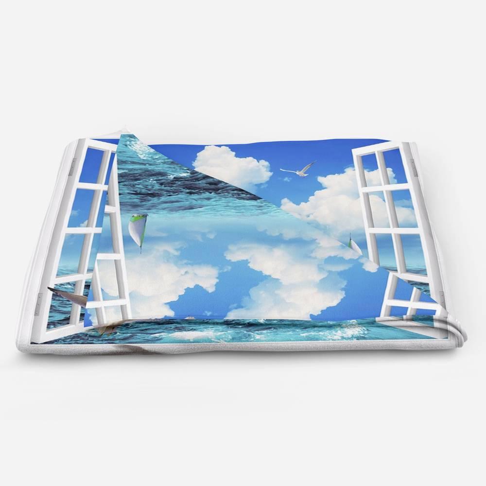 Домашний плед «Распахнутое в море окно» вид 5