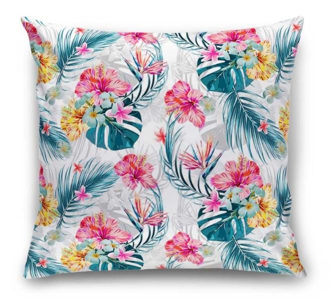 3D Подушка «Тропические цветы» вид 1