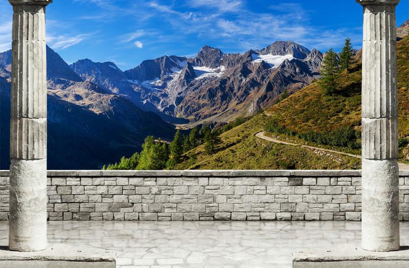 3D Фотообои 3D Фотообои «Вид на горные вершины»