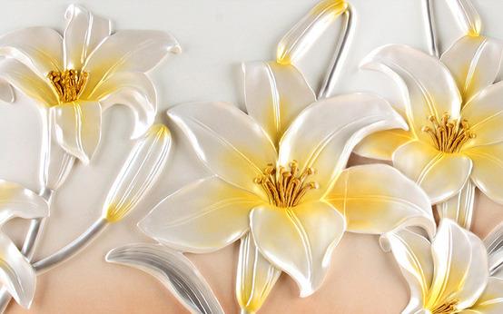 3D Фотообои 3D Фотообои  «Объемные лилии»
