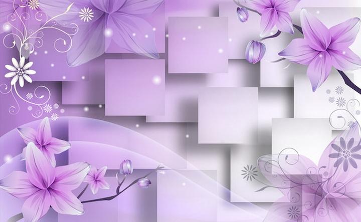 3D Фотообои 3D Фотообои  «Розовая объемная инсталляция с цветами»