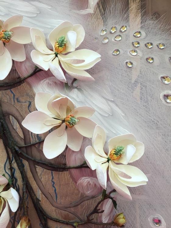 3D Фотообои 3D Фотообои «Объемная цветущая ветка»