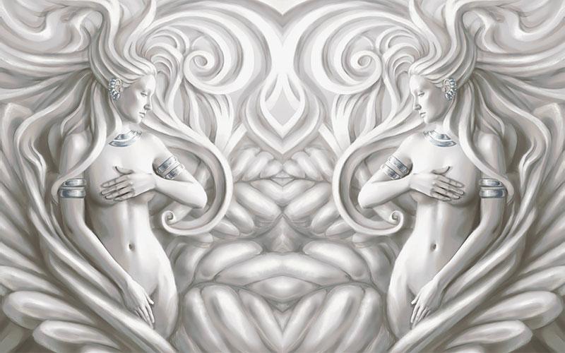 3D Фотообои 3D Фотообои  «Женщины барельеф»