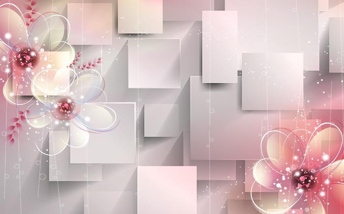 3D Фотообои 3D Фотообои  «Волшебные цветы»