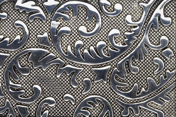 3D Фотообои «Под цветочные узоры на стали»