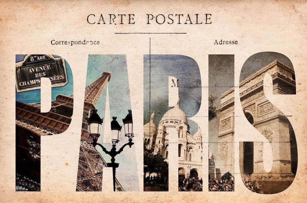 3D Фотообои 3D Фотообои  «Открытка Париж»