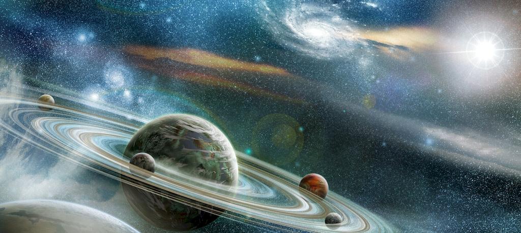 3D Фотообои 3D Фотообои  «Космический пейзаж»