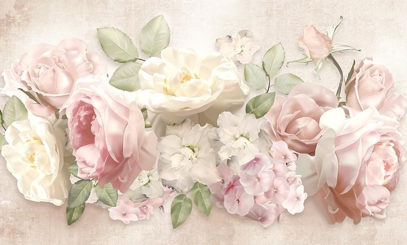3D Фотообои 3D Фотообои «Букет нежных цветов»
