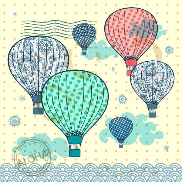 """3D Фотообои 3D Фотообои  """"Красочные воздушные шары"""" Детские"""
