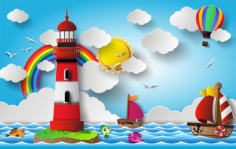 "3D Фотообои 3D Фотообои  ""Морская тематика"""