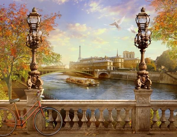 3D Фотообои 3D Фотообои «Осенний город»