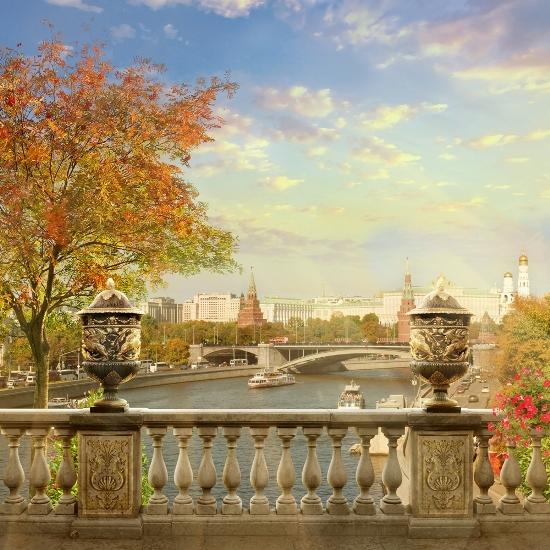 3D Фотообои 3D Фотообои «Осень в Москве»