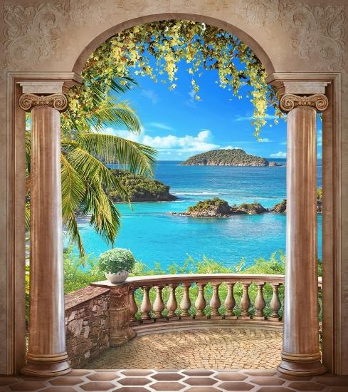 3D Фотообои 3D Фотообои «Лазурное побережье»