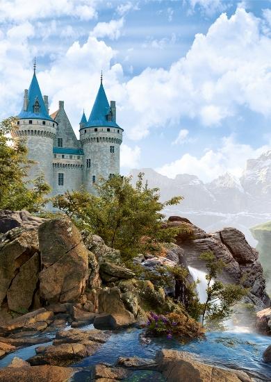 3D Фотообои «Водопад в скалах»