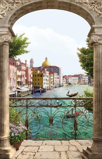 3D Фотообои 3D Фотообои «Вид на Венецианский канал»