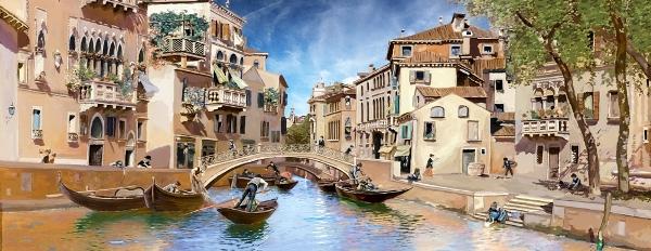 3D Фотообои 3D Фотообои «Венецианские гондольеры»