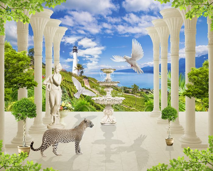 3D Фотообои 3D Фотообои «Терраса из сновидений»