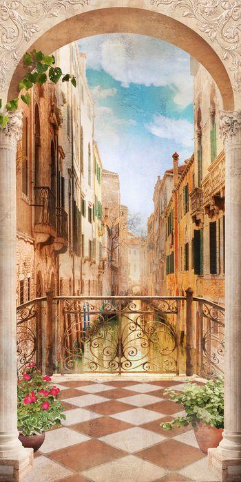 3D Фотообои 3D Фотообои «Балкончик в Венеции»