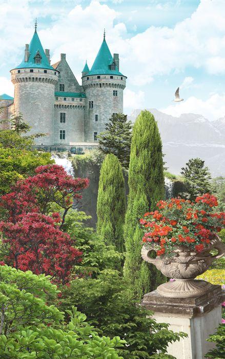3D Фотообои 3D Фотообои «Загадочный замок»