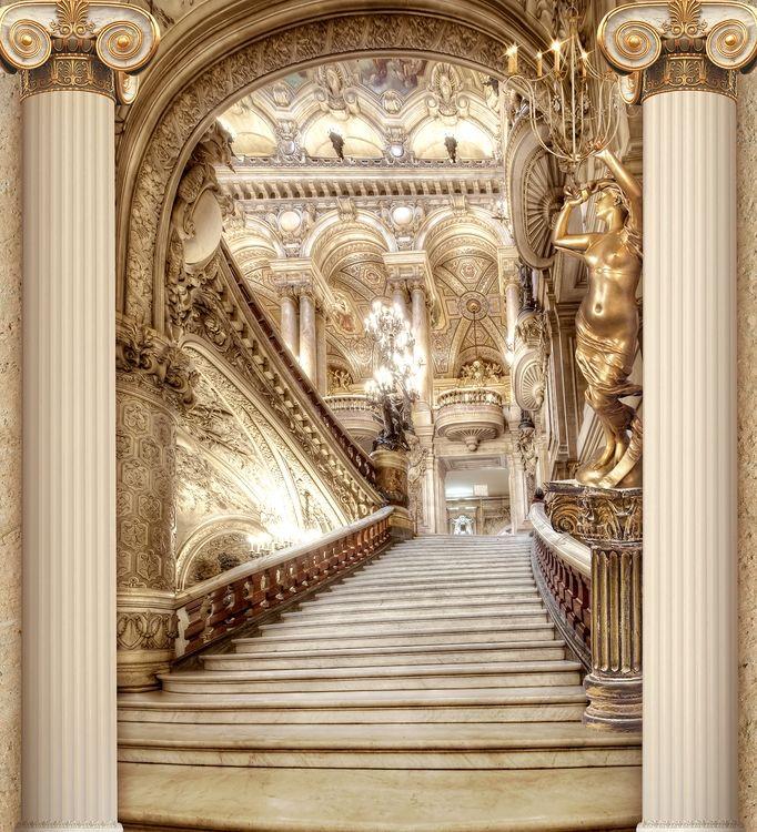 3D Фотообои 3D Фотообои «Лестница в богатом замке»