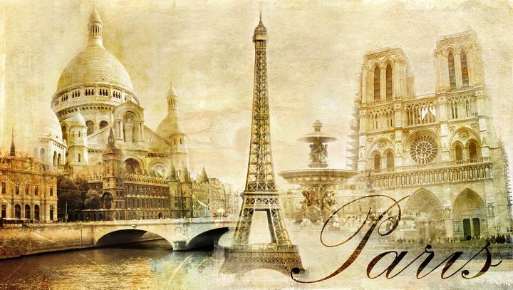 3D Фотообои 3D Фотообои  «Достопримечательности Парижа»