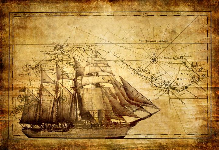 3D Фотообои 3D Фотообои  «Фреска корабль»