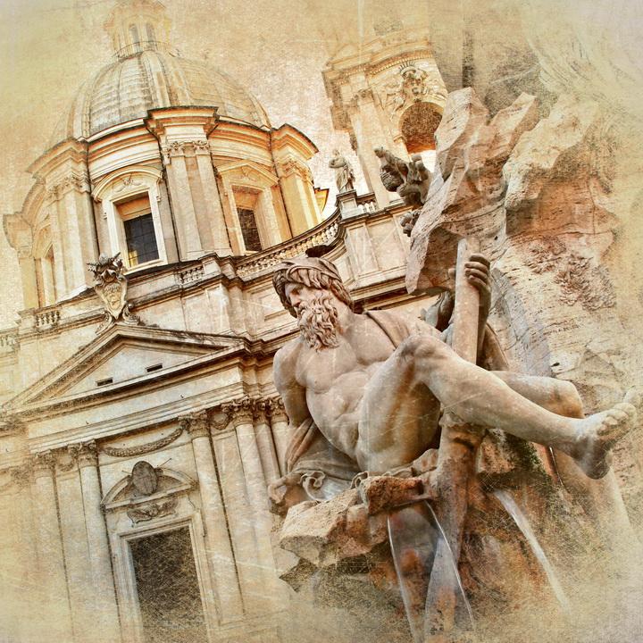 3D Фотообои 3D Фотообои  «Фреска Рим»