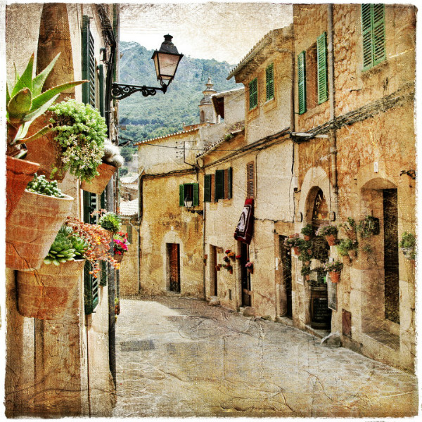 3D Фотообои 3D Фотообои  «Фреска итальянские улочки»