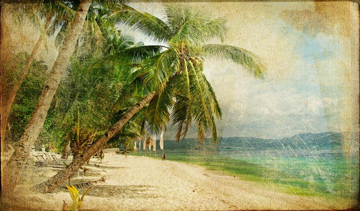 3D Фотообои 3D Фотообои  «Фреска пляж»