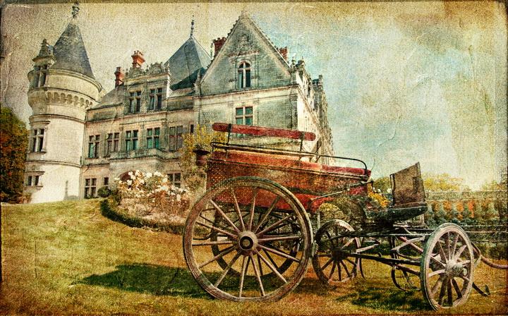 3D Фотообои 3D Фотообои  «Фреска старый замок»
