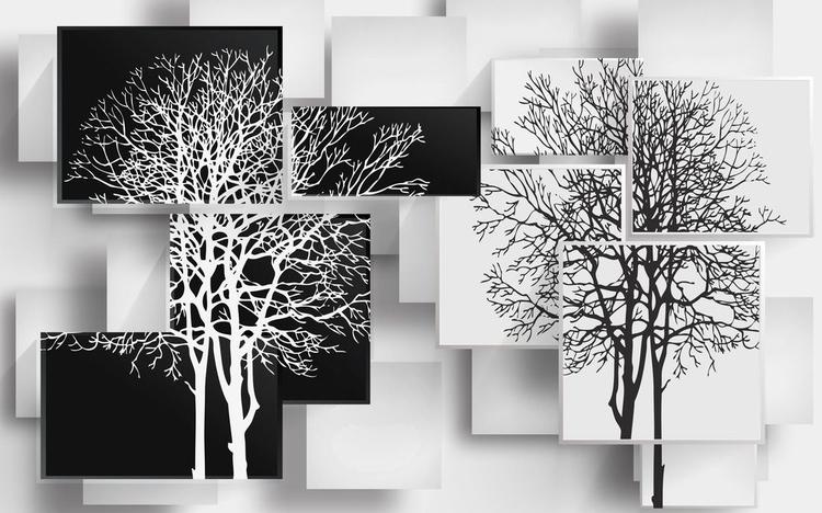 3D Фотообои 3D Фотообои «Деревья в стиле модерн»