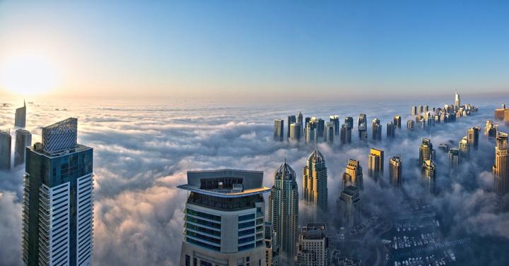 3D Фотообои 3D Фотообои  «Туман над Дубаем»