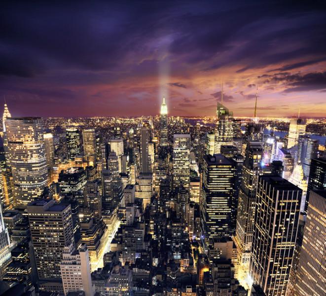 3D Фотообои 3D Фотообои  «Ночной Манхэттен»