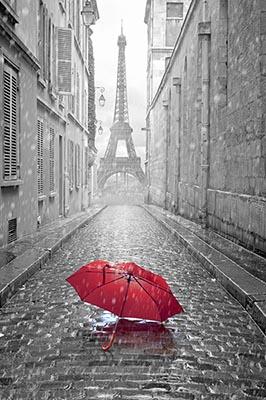 3D Фотообои 3D Фотообои «Дождь в Париже»