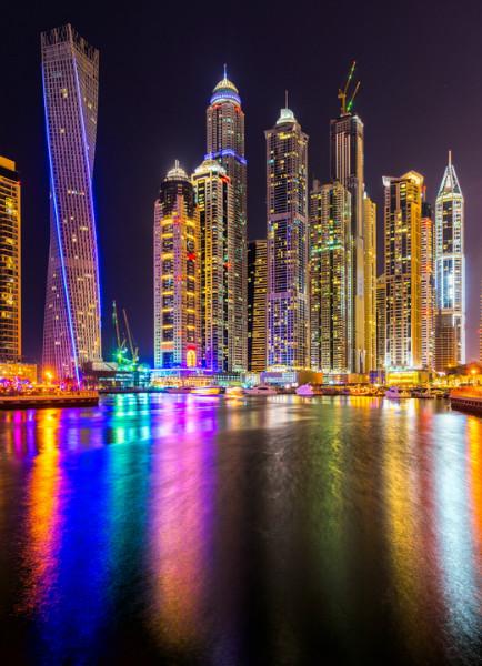3D Фотообои 3D Фотообои  «Огни Дубая»