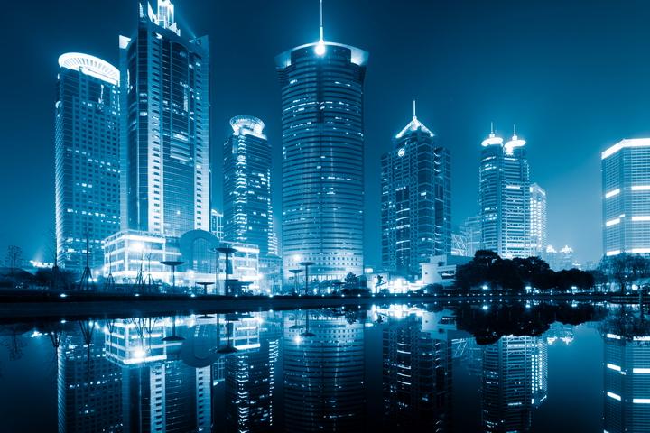3D Фотообои  «Неоновые огни ночного города»